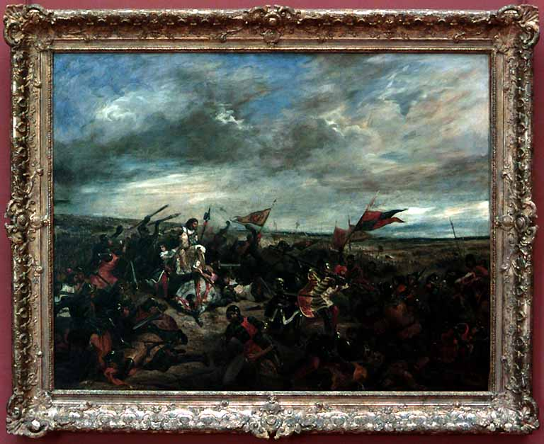 Battle of Poitiers by Eugène Delacroix Reproduction Painting by Blue Surf Art