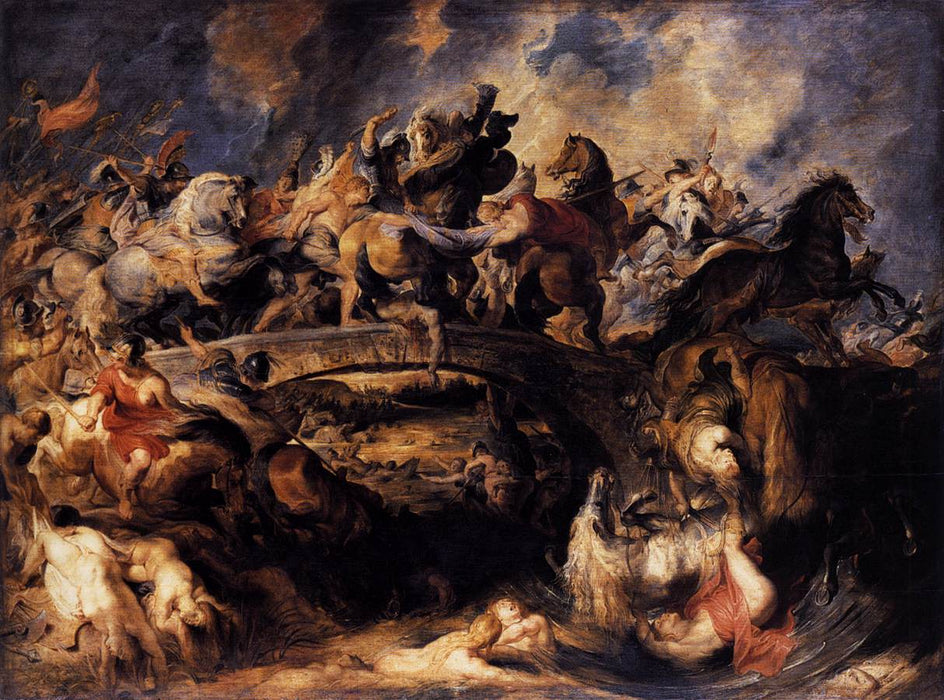 Battle of the Amazons by Peter Paul Rubens Reproduction Oil Painting on Canvas