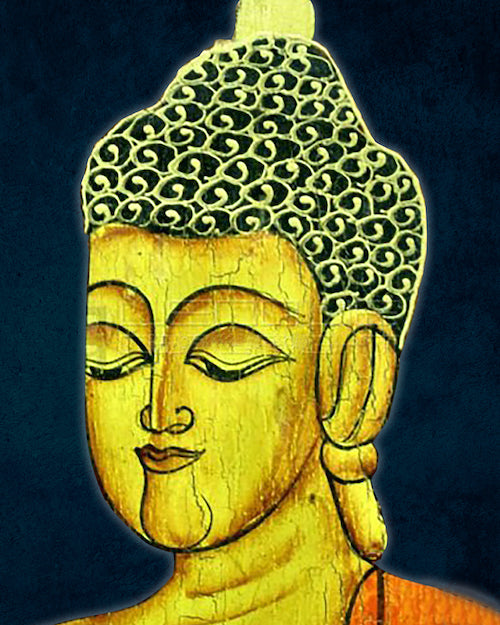 Buddha Asian Wall Art in Oil Painting on Canvas