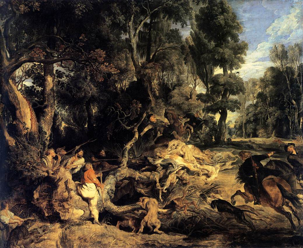 Boar Hunt by Peter Paul Rubens Reproduction Oil Painting on Canvas
