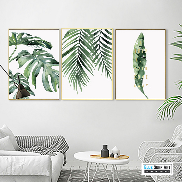 Tropical Plants - Coconut Leafs art prints, painting decoration, wall art
