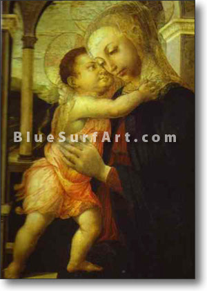 Madonna della Loggia by Alessandro Botticelli.Reproduction Oil Painting