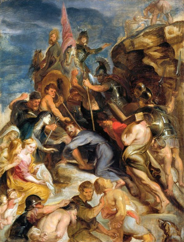 Carrying the Cross by Peter Paul Rubens Reproduction Oil Painting on Canvas