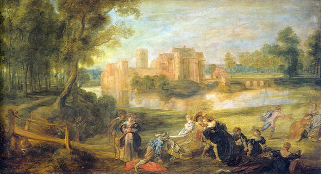 Castle Garden by Peter Paul Rubens Reproduction Oil Painting on Canvas