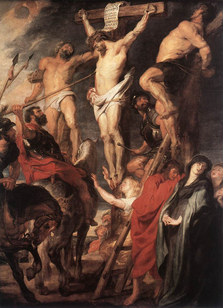 Christ on the Cross Between the Two Thieves by Peter Paul Rubens Reproduction Oil Painting on Canvas