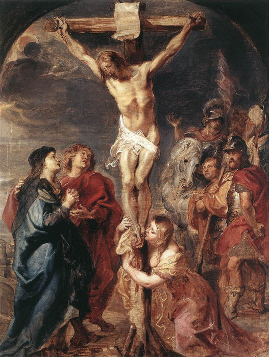 Christ on the Cross by Peter Paul Rubens Reproduction Oil Painting on Canvas
