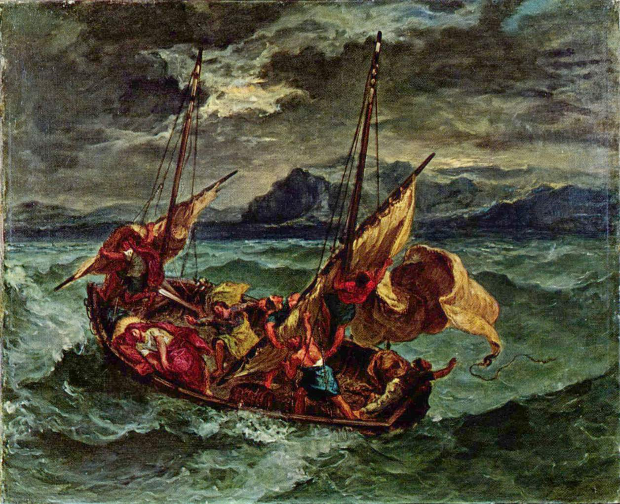 Christ on the Sea of Galilee by Eugène Delacroix Reproduction Painting by Blue Surf Art