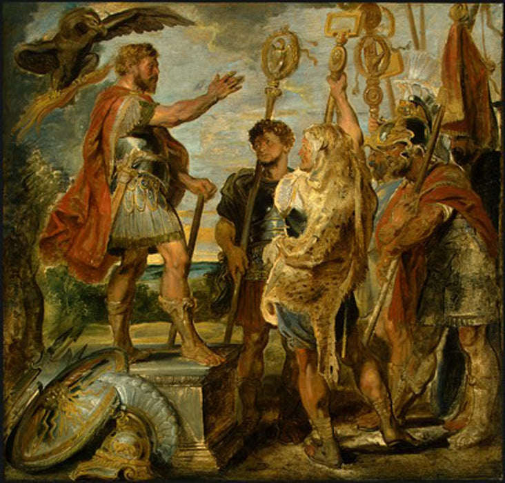 Decius Mus Addressing the Legions by Peter Paul Rubens Reproduction Oil Painting on Canvas