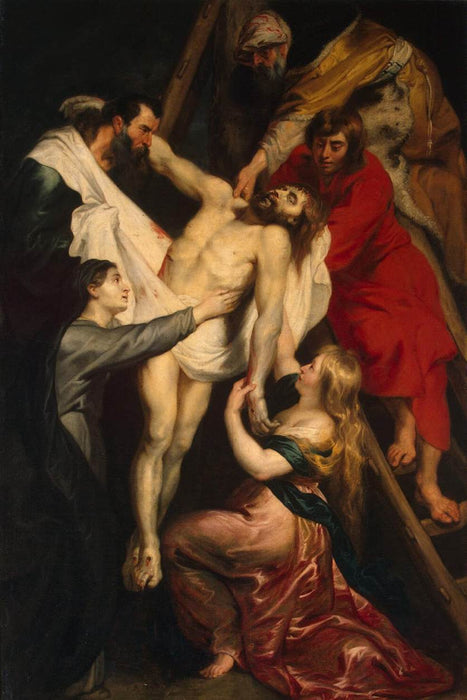 Descent from the Cross by Peter Paul Rubens Reproduction Oil Painting on Canvas