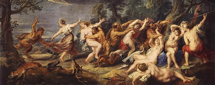 Diana and her Nymphs Surprised by the Fauns by Peter Paul Rubens Reproduction Oil Painting on Canvas