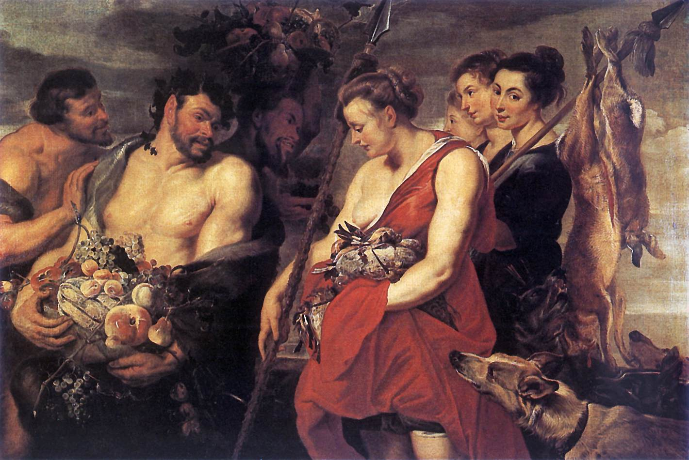 Diana Presentig the Catch to Pan by Peter Paul Rubens Reproduction Oil Painting on Canvas