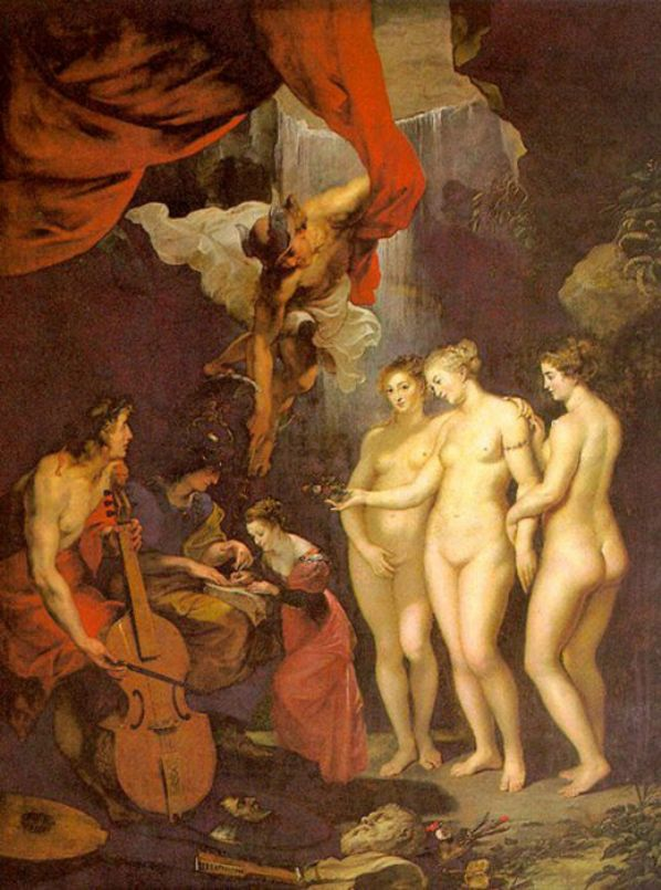 Education of Marie de Medici by Peter Paul Rubens Reproduction Oil Painting on Canvas