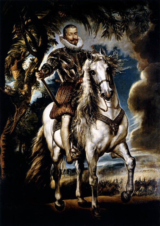 Equestrian Portrait of the Duke of Lerma by Peter Paul Rubens Reproduction Oil Painting on Canvas