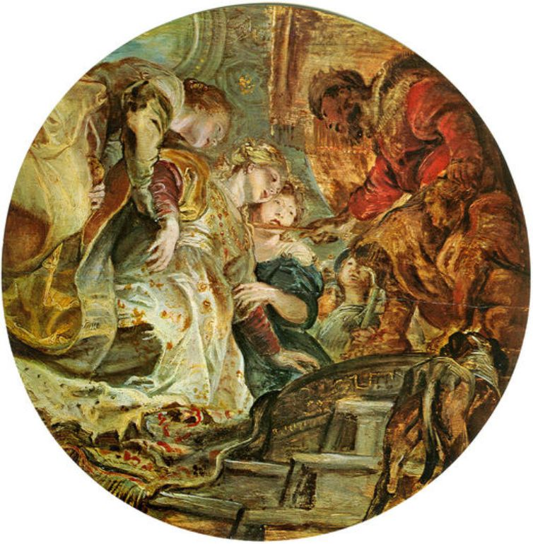 Esther and Ahasverus by Peter Paul Rubens Reproduction Oil Painting on Canvas