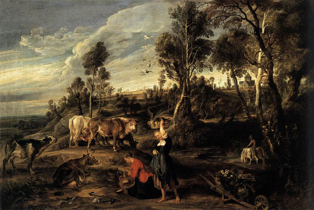 Farm at Laken by Peter Paul Rubens Reproduction Oil Painting on Canvas