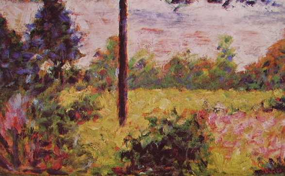 Forest of Barbizon by Georges Seurat Reproduction Painting by Blue Surf Art
