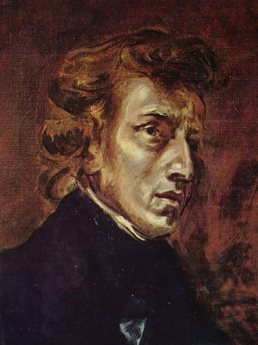 Frederic Chopin by Eugène Delacroix Reproduction Painting by Blue Surf Art