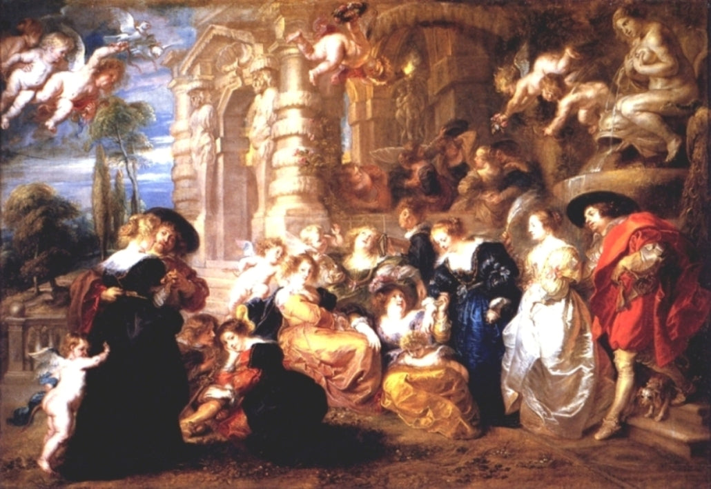 Garden of Love by Peter Paul Rubens Reproduction Oil Painting on Canvas