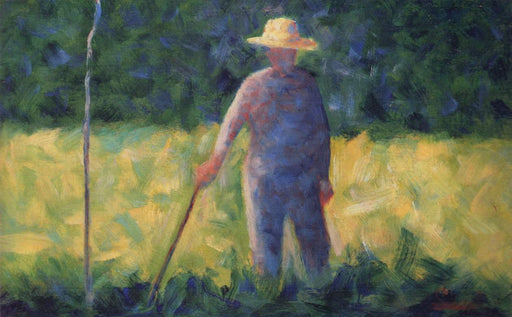 Gardener by Georges Seurat Reproduction Painting by Blue Surf Art