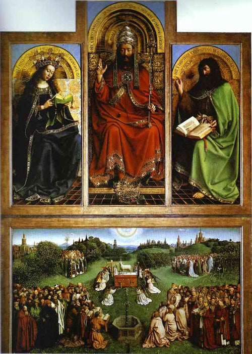 God the Father by Jan Van Eyck Reproduction Painting by Blue Surf Art