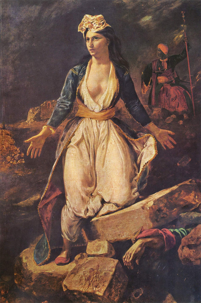 Greece expiring on the Ruins of Missolonghi by Eugène Delacroix Reproduction Painting by Blue Surf Art