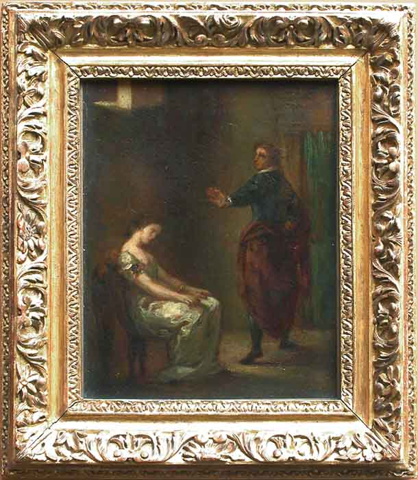 Hamlet and Ophelia by Eugène Delacroix Reproduction Painting by Blue Surf Art