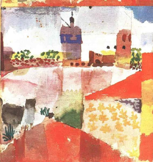 Hammamet with mosque by Paul Klee