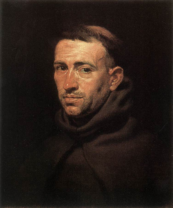 Head of a Franciscan Friar by Peter Paul Rubens Reproduction Oil Painting on Canvas