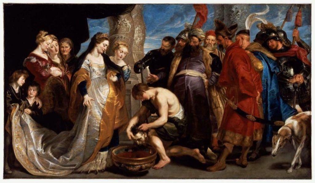 Head of Cyrus Brought to Queen Tomyris by Peter Paul Rubens Reproduction Oil Painting on Canvas