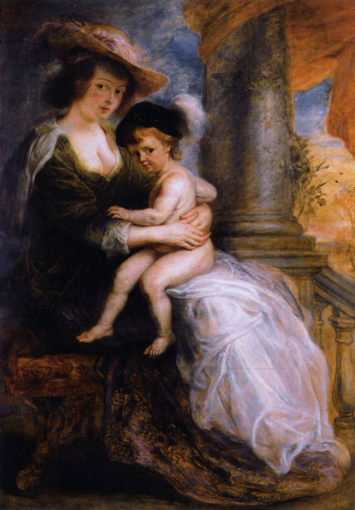 Helena Fourment with her Son Francis by Peter Paul Rubens Reproduction Oil Painting on Canvas