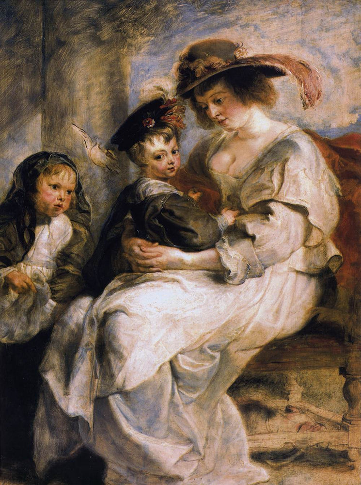 Helene Fourment with her Children by Peter Paul Rubens Reproduction Oil Painting on Canvas