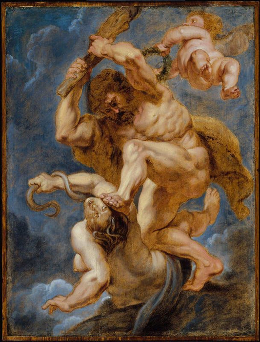 Hercules as Heroic Virtue Overcoming Discord by Peter Paul Rubens Reproduction Oil Painting on Canvas