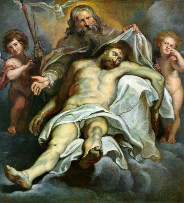 Holy Trinity by Peter Paul Rubens Reproduction Oil Painting on Canvas