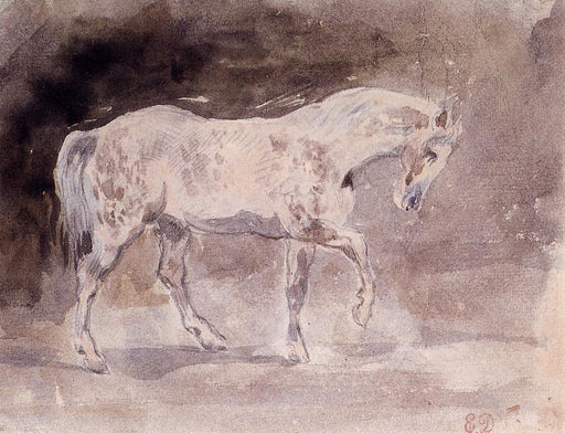 Horse by Eugène Delacroix Reproduction Painting by Blue Surf Art