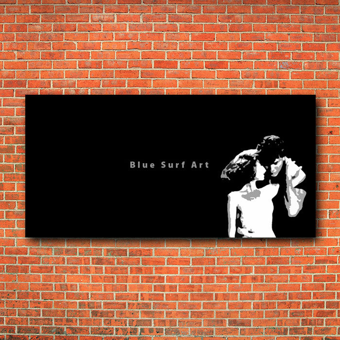 I'm gonna do my kind of dancin' with a great partner - B/W - red bricks wall