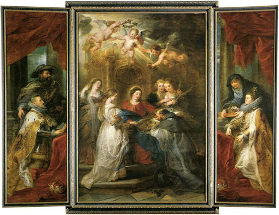 Ildefonso Altar by Peter Paul Rubens Reproduction Oil Painting on Canvas