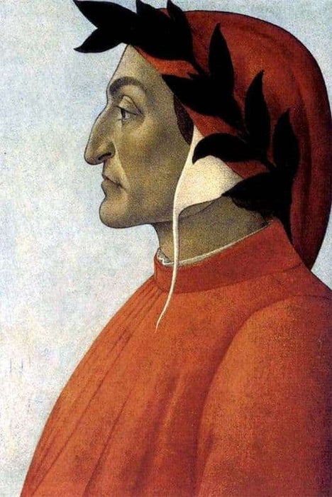 Portrait of Dante by Sandro Botticelli I Blue Surf Art