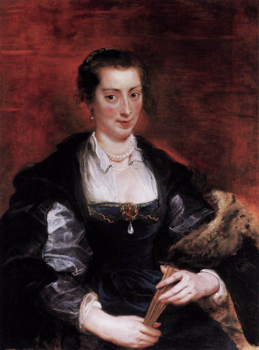 Isabella Brandt, First Wife by Peter Paul Rubens Reproduction Oil Painting on Canvas
