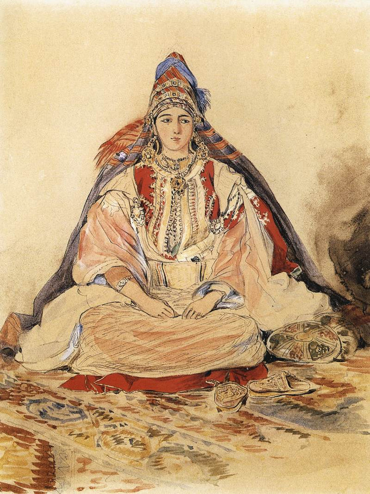 Jewish Bride by Eugène Delacroix Reproduction Painting by Blue Surf Art