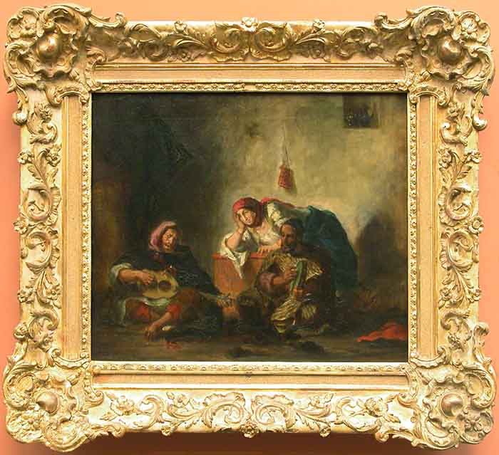 Jewish musicians in Morocco by Eugène Delacroix Reproduction Painting by Blue Surf Art