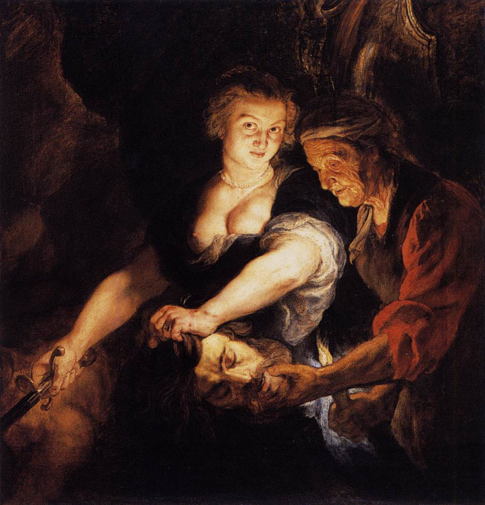 Judith with the Head of Holofernes by Peter Paul Rubens Reproduction Oil Painting on Canvas