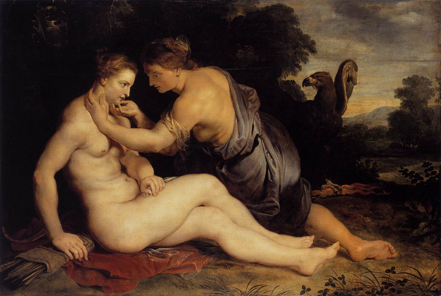 Jupiter and Callisto by Peter Paul Rubens Reproduction Oil Painting on Canvas