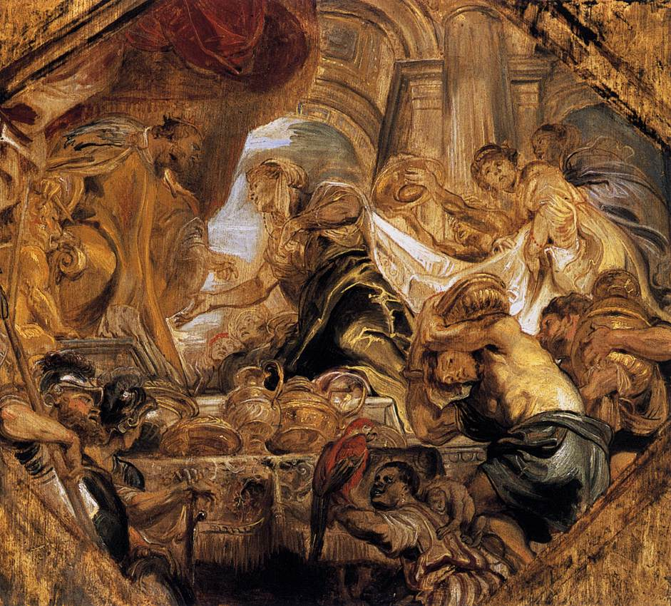 King Solomon and the Queen of Sheba by Peter Paul Rubens Reproduction Oil Painting on Canvas