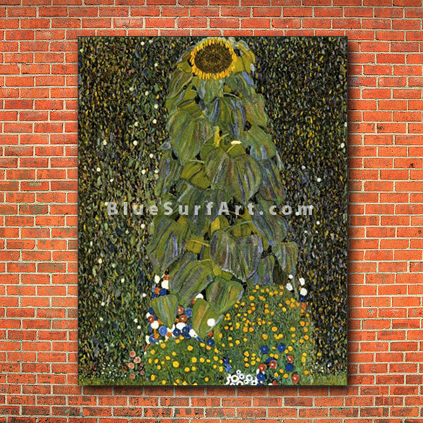 The Sunflower - red brick wall