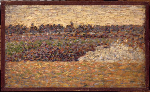 Landscape at Grandcamp by Georges Seurat Reproduction Painting by Blue Surf Art
