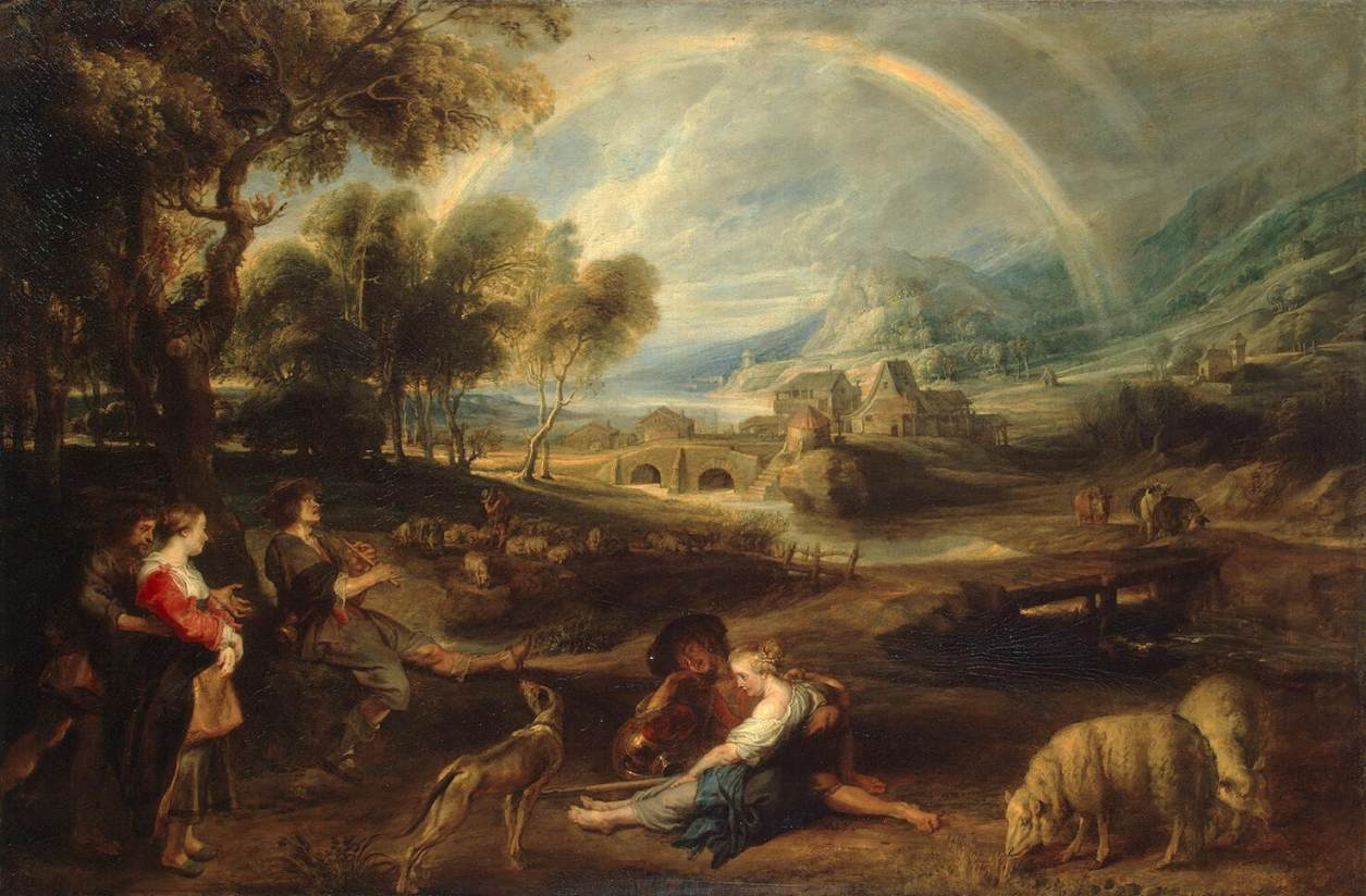 Landscape with a Rainbow by Peter Paul Rubens Reproduction Oil Painting on Canvas