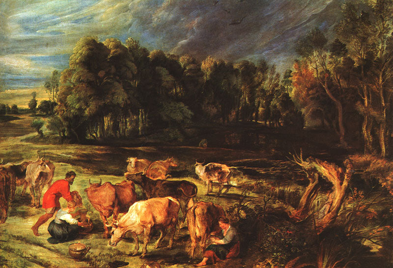 Landscape with Cows by Peter Paul Rubens Reproduction Oil Painting on Canvas