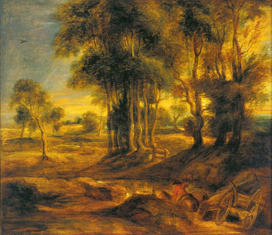 Landscape with the Carriage at the Sunset by Peter Paul Rubens Reproduction Oil Painting on Canvas