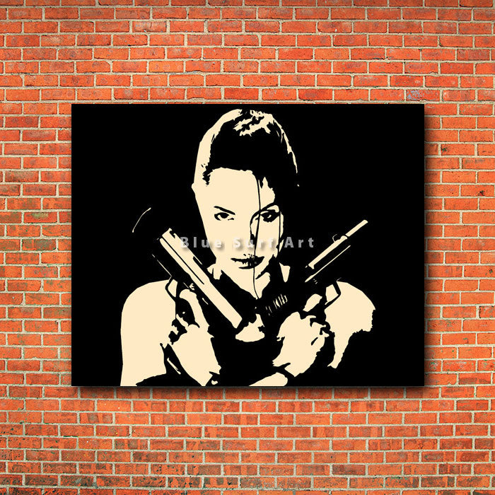 Lara - red bricks wall