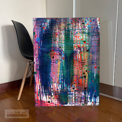 Multi Colour Buddha Portrait in Abstract Style Wall Art